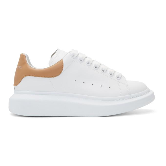 Alexander McQueen White & Beige Oversized Sneakers