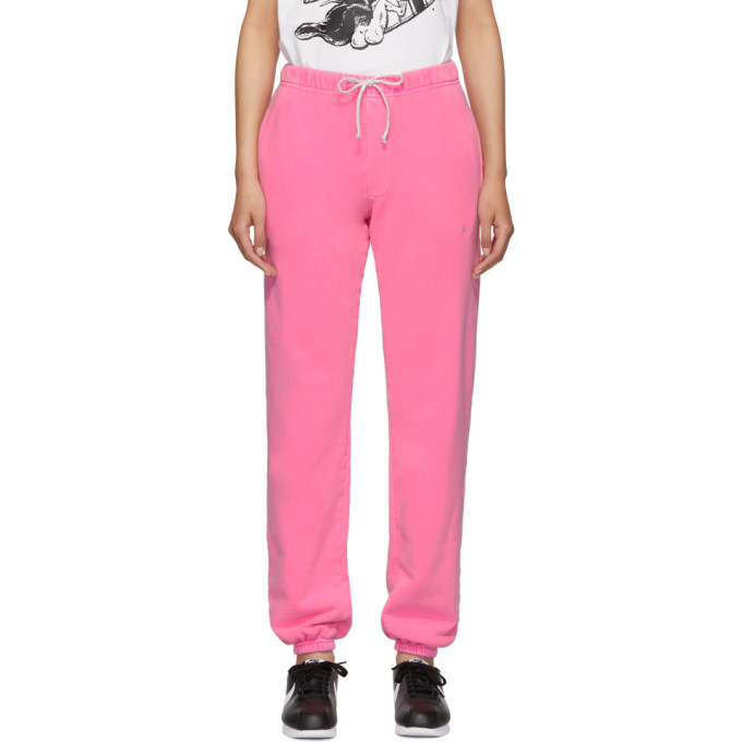 ERL Pantalon de survetement a logo rose exclusif a SSENSE