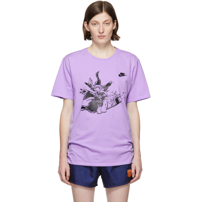 ERL T-shirt mauve Witch edition Nike