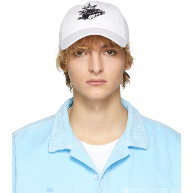ERL Casquette a six panneaux blanche Witch edition Nike