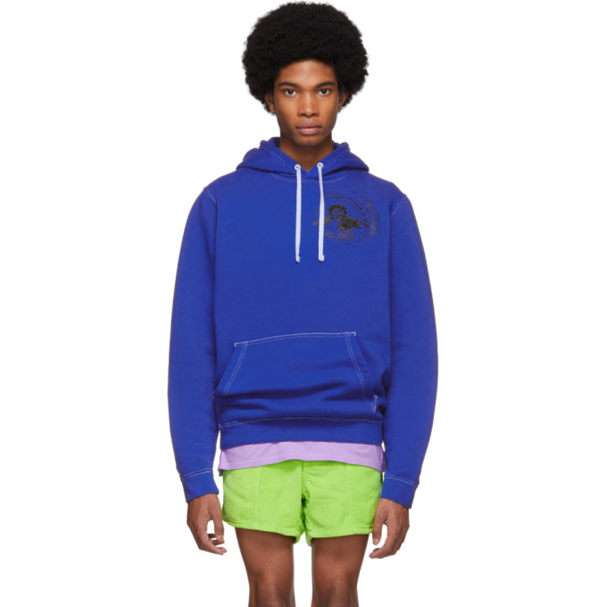 ERL Blue Nike Edition Witch 1 Hoodie