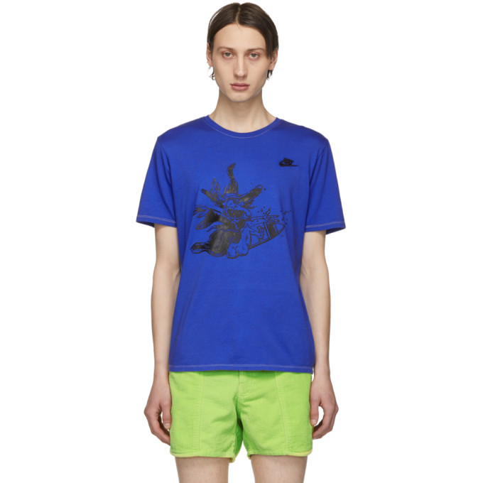ERL T-shirt bleu Witch edition Nike