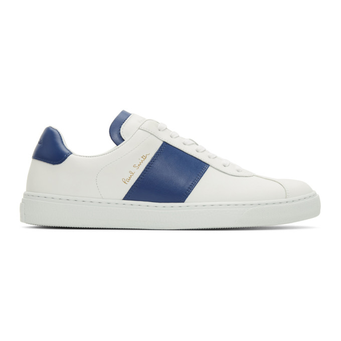 957022f84 BUY Paul Smith White and Blue Levon Sneakers