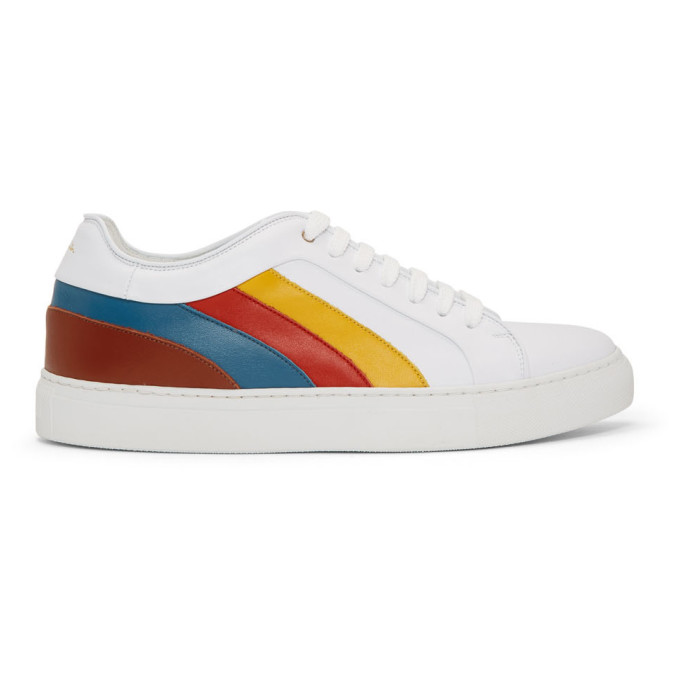 c81d988d25a Paul Smith Striped Leather Sneakers In 92 Multi
