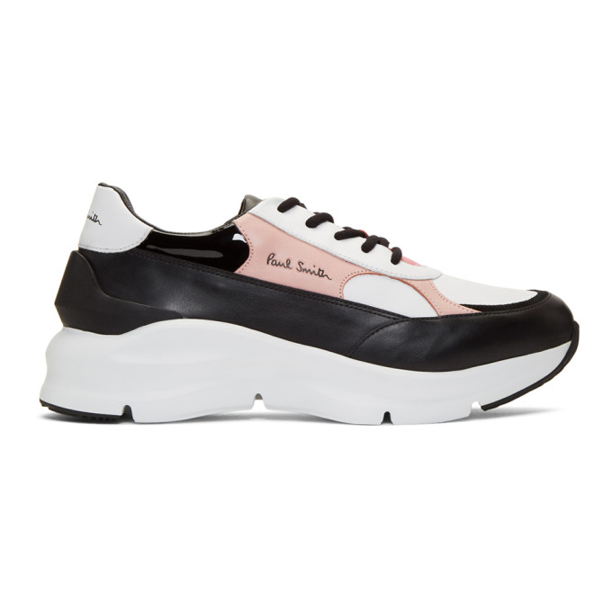 Paul Smith Sneakers PAUL SMITH BLACK AND PINK EXPLORER SNEAKERS