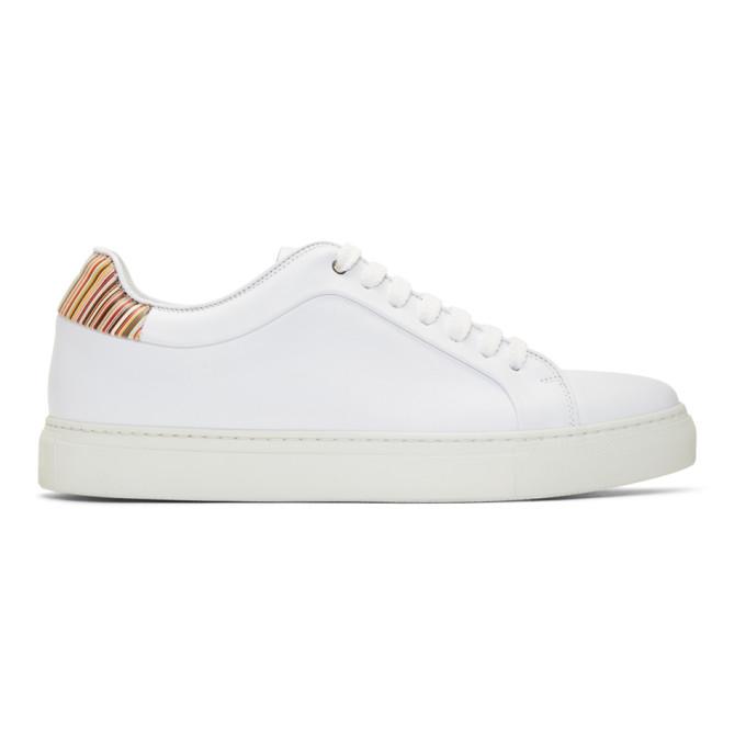 Paul Smith White Multi Stripe Basso Sneakers