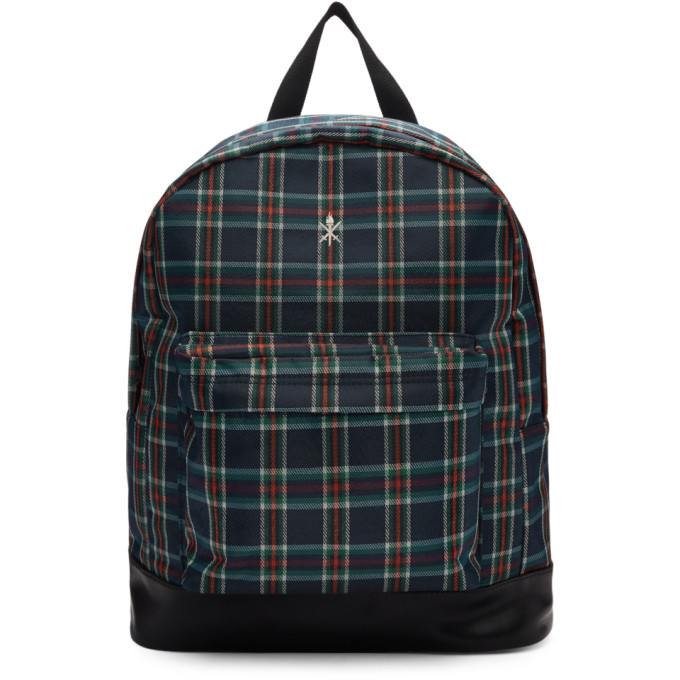 OPENING CEREMONY | Opening Ceremony Navy and Red Plaid Backpack | Goxip