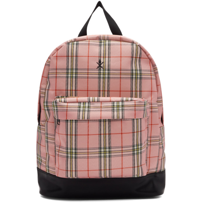 Opening Ceremony Pink & Black Plaid Backpack