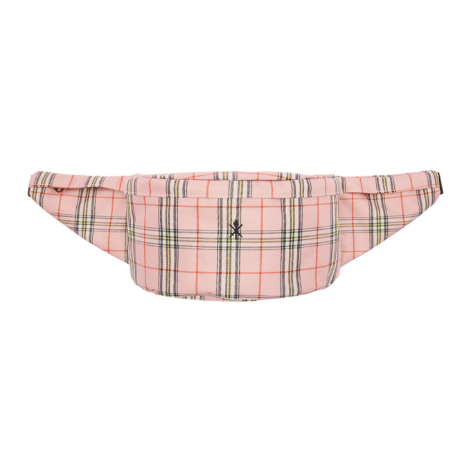 Opening Ceremony Pink Plaid Fanny Pack