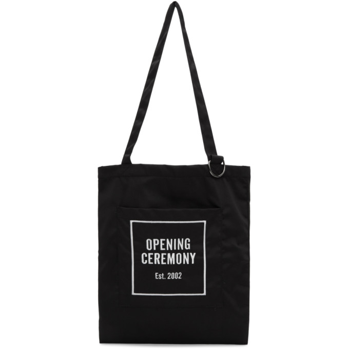 Opening Ceremony Black Logo Tote