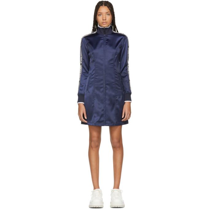 OPENING CEREMONY | Opening Ceremony Navy Satin Logo Track Dress | Goxip