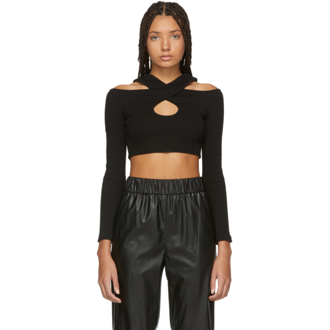 OPENING CEREMONY | Opening Ceremony Black Rib Criss Cross Sweater | Goxip