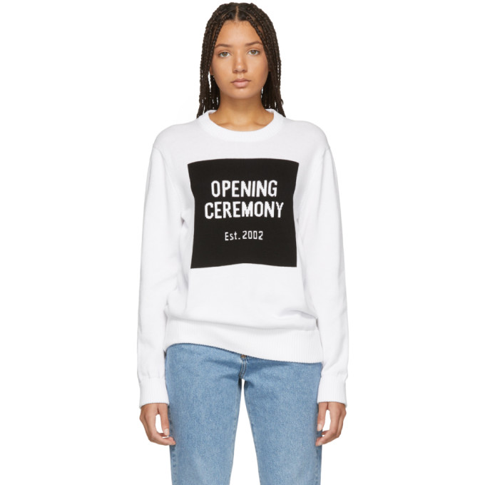 OPENING CEREMONY | Opening Ceremony White Box Logo Sweater | Goxip