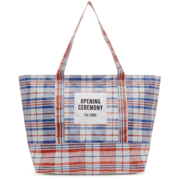 Opening Ceremony White & Red Medium Chinatown Tote