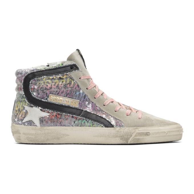 Golden Goose Multicolor Sequin Slide Sneakers