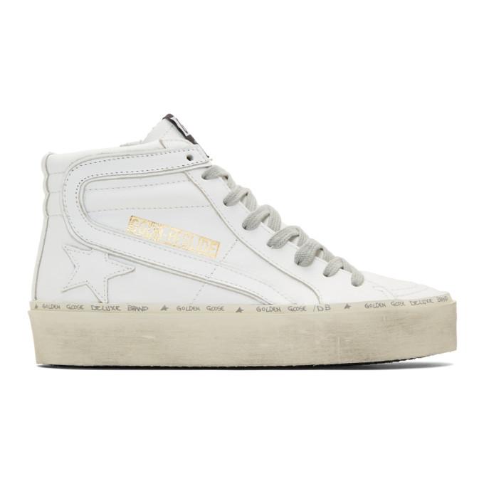 Golden Goose White Hi Slide Sneakers