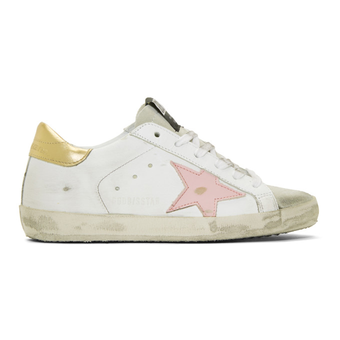Golden GooseWhite Gold Tab Superstar Sneakers