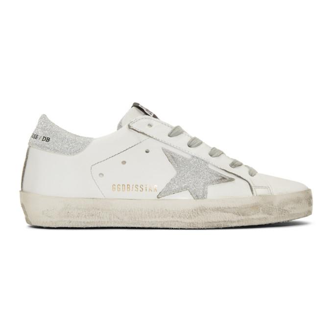 Golden GooseWhite Glitter Superstar Sneakers