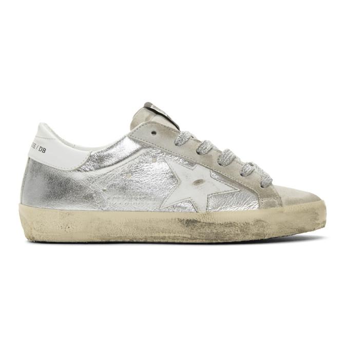 Golden Goose SSENSE Exclusive Silver Metallic Superstar Sneakers