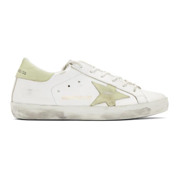 Golden GooseWhite Glow-In-The-Dark Friday Superstar Sneakers