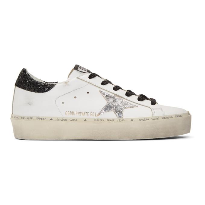 Golden GooseWhite Saturday Hi-Star Sneakers