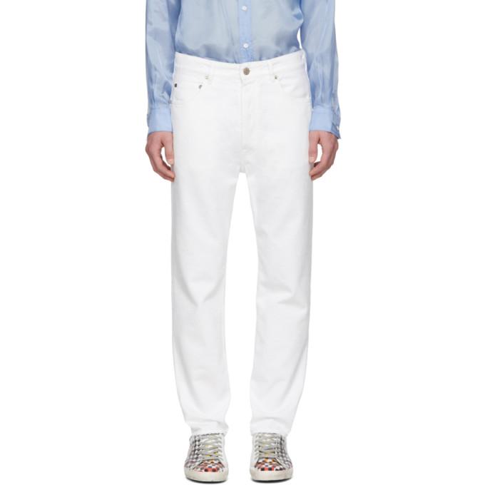 Golden Goose White Happy Jeans 191264M18600106