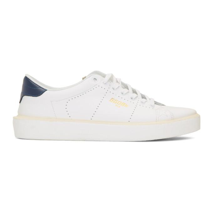Golden Goose ホワイト and ネイビー テニス スニーカー