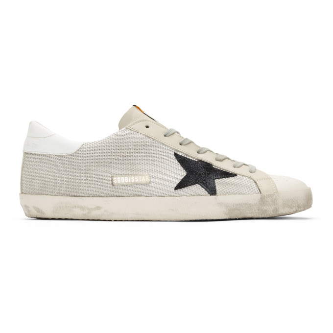 Golden Goose Grey & Off-White Cord Superstar Sneakers