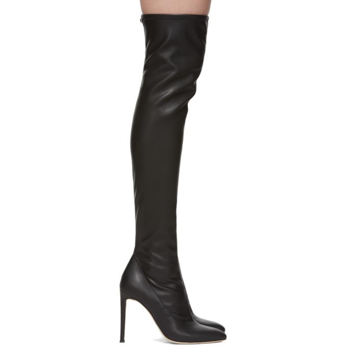 Image of Giuseppe Zanotti Black Blaze Over-The-Knee Boots