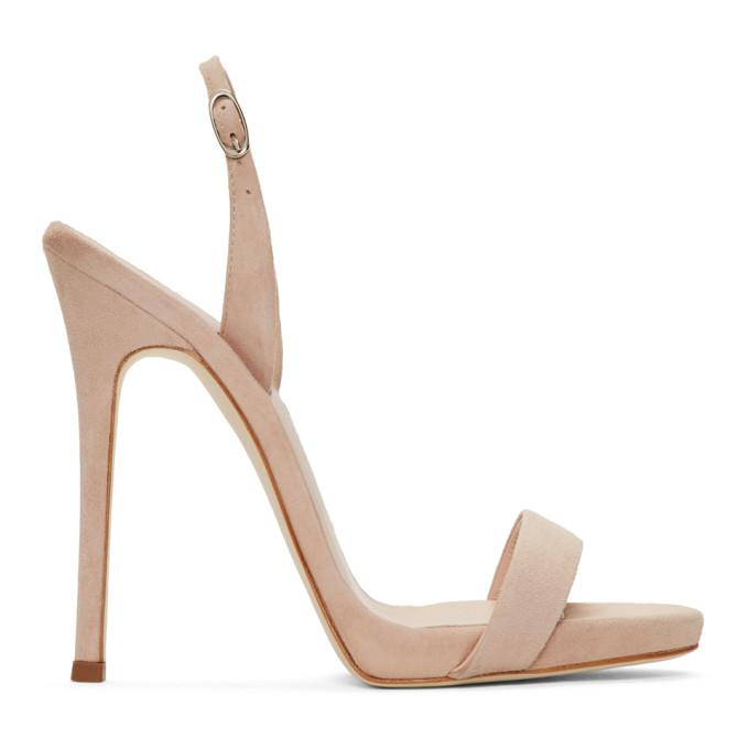 Image of Giuseppe Zanotti Beige Suede Sophie Sandals