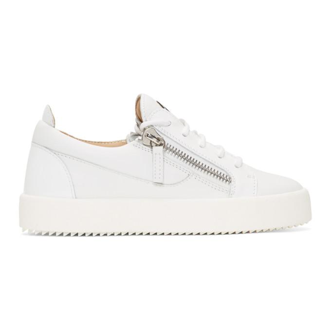 6c7f2d1cecdc0 Giuseppe Zanotti White Gail Sneakers