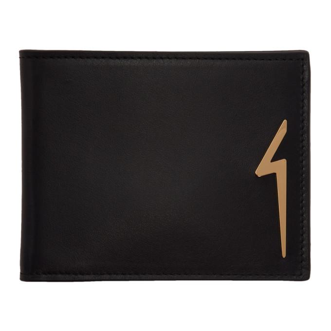 Image of Giuseppe Zanotti Black Albert Flash Wallet
