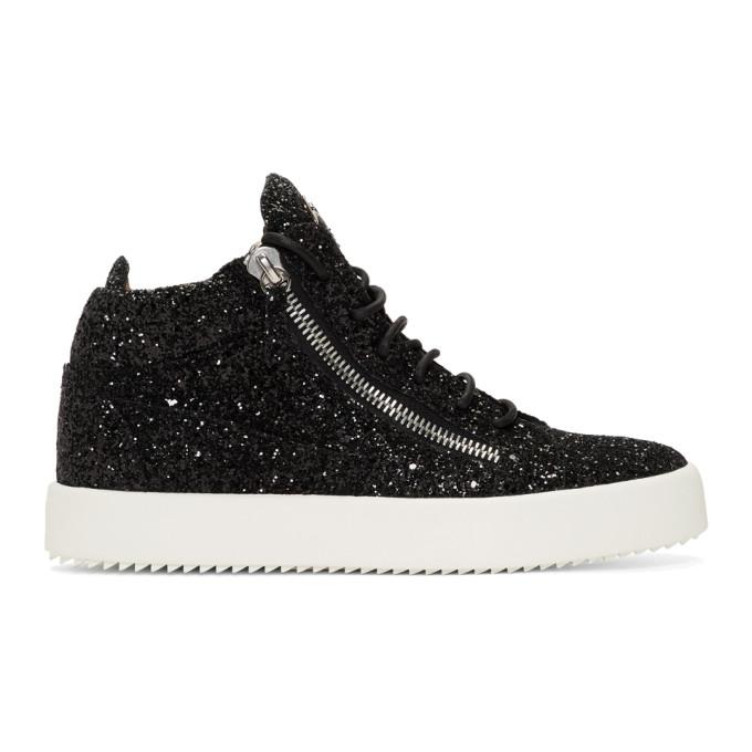 Giuseppe Zanotti Black Glitter Kriss Sneakers