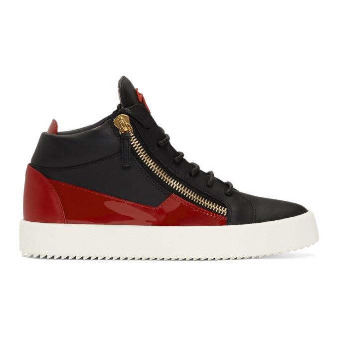Giuseppe Zanotti Red & Black Kriss Sneakers