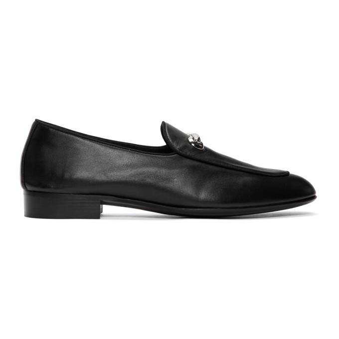 Image of Giuseppe Zanotti Black Archibald Loafers