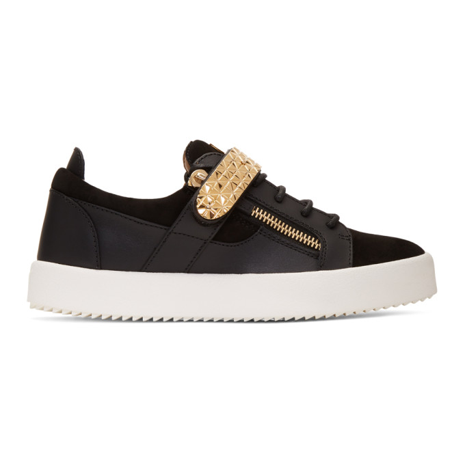 Image of Giuseppe Zanotti Black Archer Sneakers
