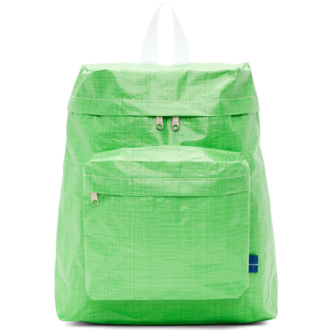 Image of Comme des Garçons Shirt Green Poly Small Backpack
