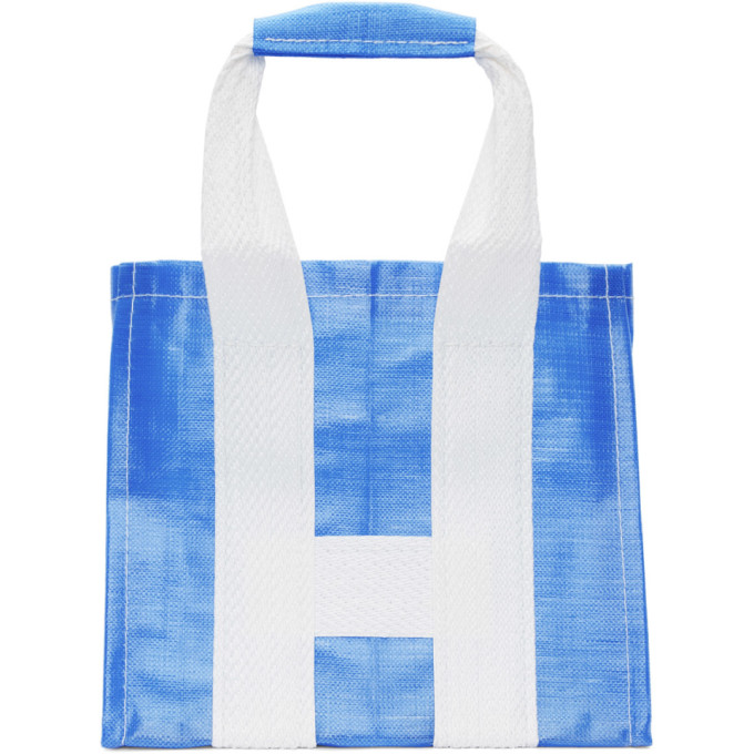 Image of Comme des Garçons Shirt Blue & White Poly Large Tote