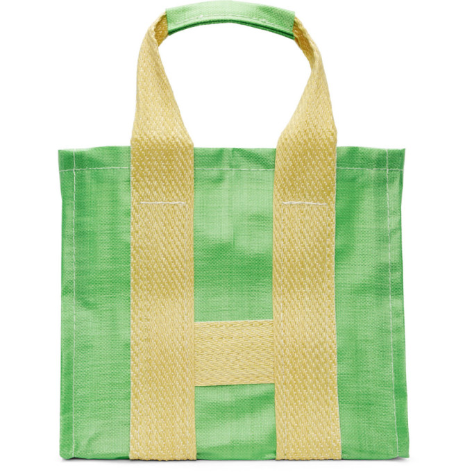 Image of Comme des Garçons Shirt Green & Yellow Poly Large Tote