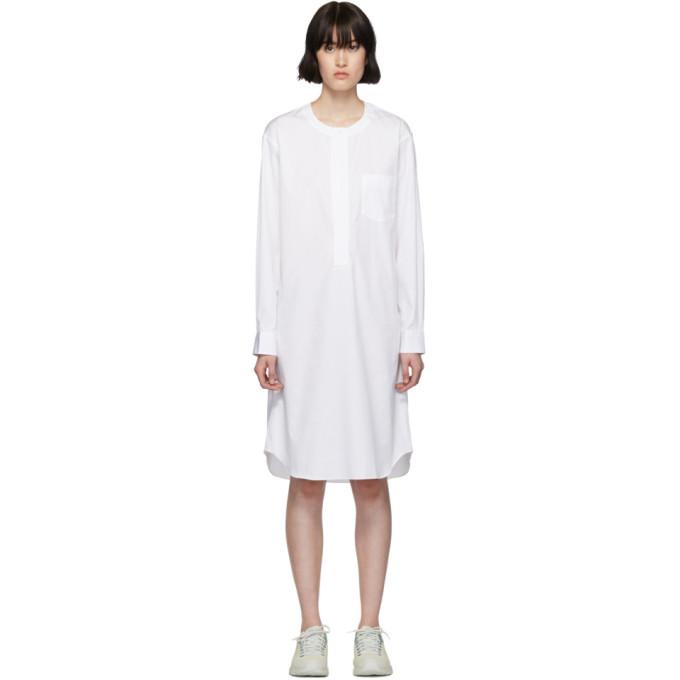 Image of Comme des Garçons Shirt White Poplin Long Shirt Dress