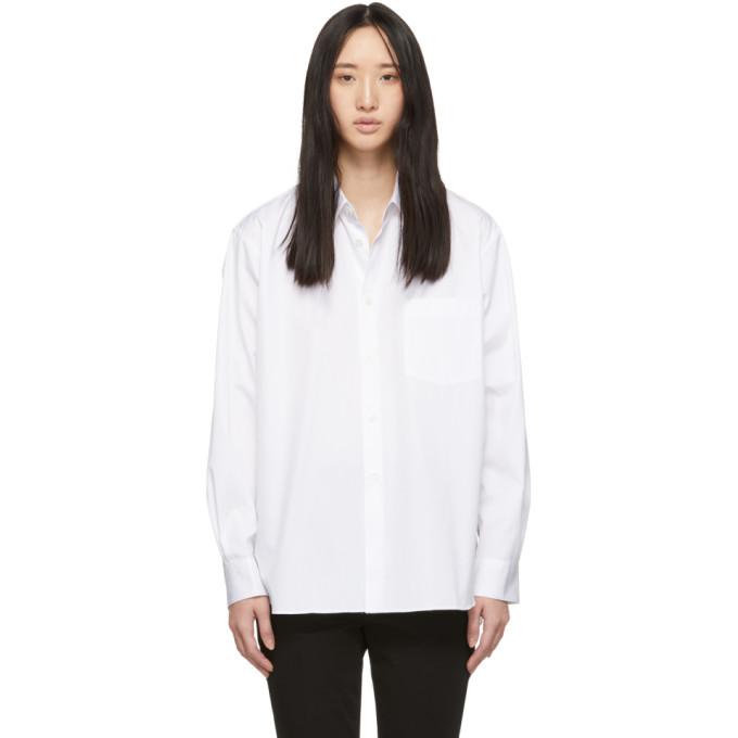 Image of Comme des Garçons Shirt White Wide Fit Classic Shirt