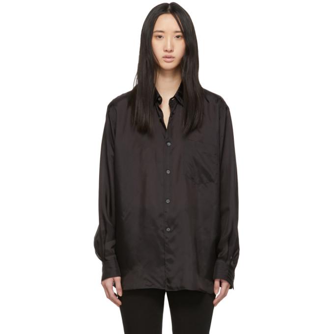 Image of Comme des Garçons Shirt Black Wide Fit Lining Shirt