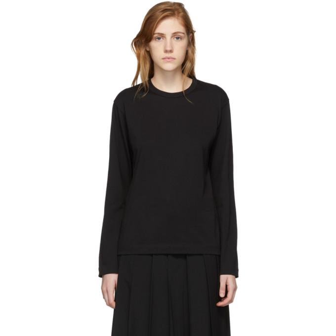 Image of Comme des Garçons Shirt Black Logo Men's Fit Long Sleeve T-Shirt