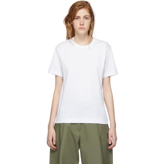 Image of Comme des Garçons Shirt White Logo Men's Fit T-Shirt