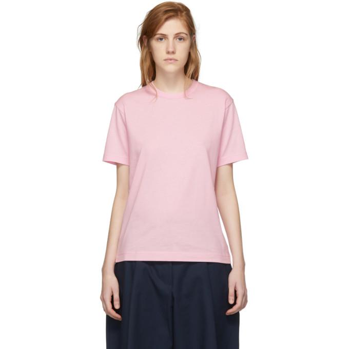 Image of Comme des Garçons Shirt Pink Logo Men's Fit T-Shirt