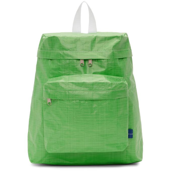 Image of Comme des Garçons Shirt Green Large Poly Backpack