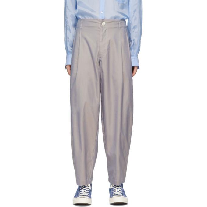 Image of Comme des Garçons Shirt Grey Twill Plain Trousers