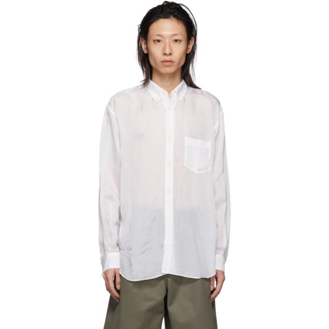 Image of Comme des Garçons Shirt White Cupro Shirt