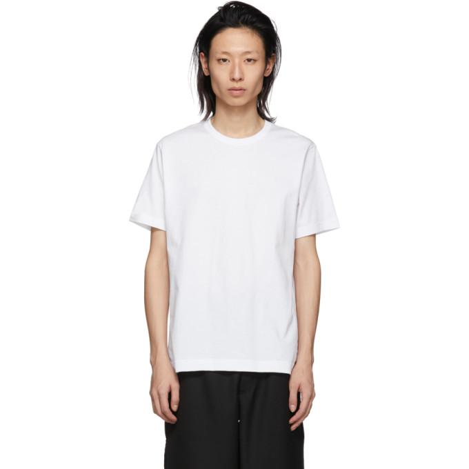 Image of Comme des Garçons Shirt White Logo T-Shirt