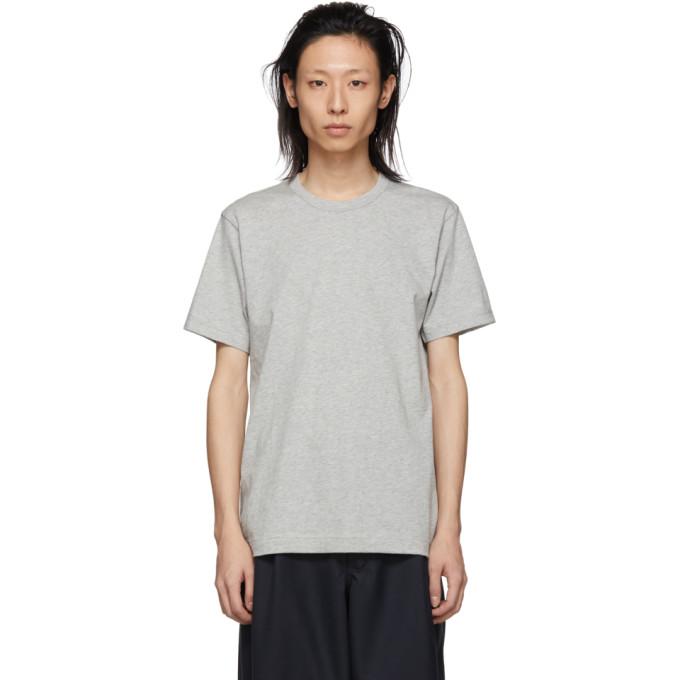 Image of Comme des Garçons Shirt Grey Logo T-Shirt